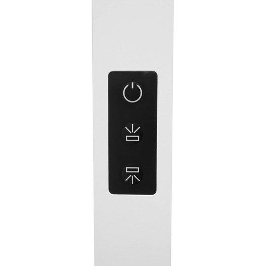 LED-kontorgulvlampe Somidia, dimmer, sensor, hvit