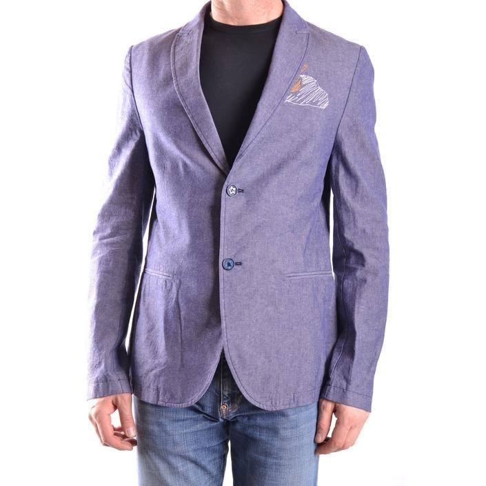 Daniele Alessandrini Men's Blazer Blue 163103 - blue 48