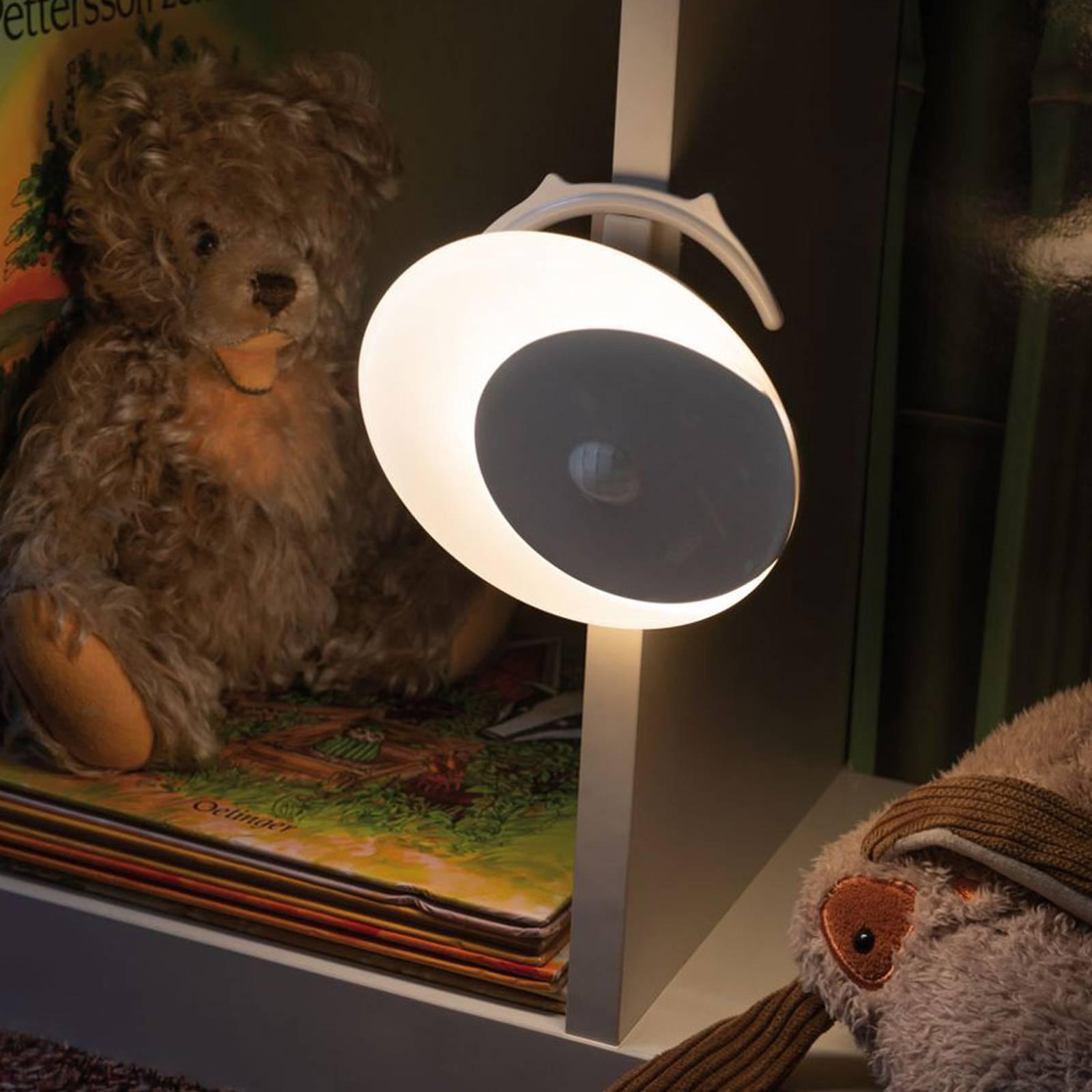 Paulmann Viby -LED-yövalo, siirrettävä, pyöreä
