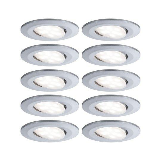 Paulmann LED-kohdevalo Calla, 10kpl, kromi