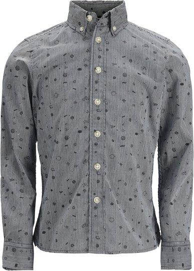 PRODUKT Space Aop Skjorte, Dress Blues 170/176