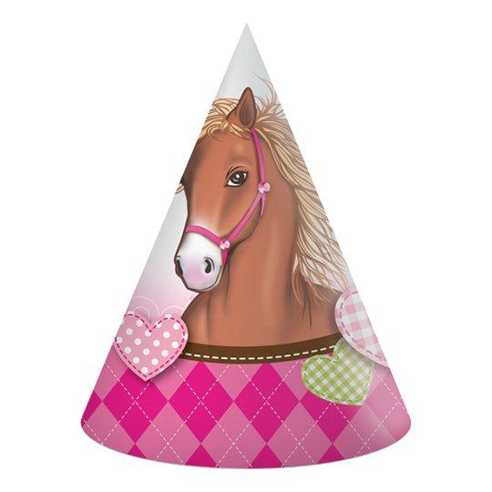 Partyhattar Häst - 6-pack