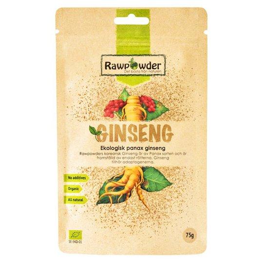 Rawpowder Ekologisk Ginseng Panax, 75 g