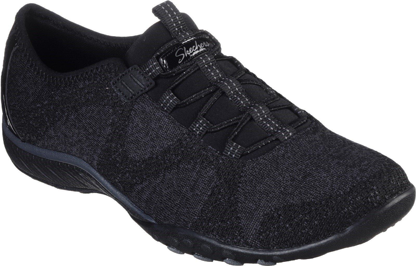 Skechers Women's Breathe-Easy Slip On Shoe Various Colours 30326 - Black 3