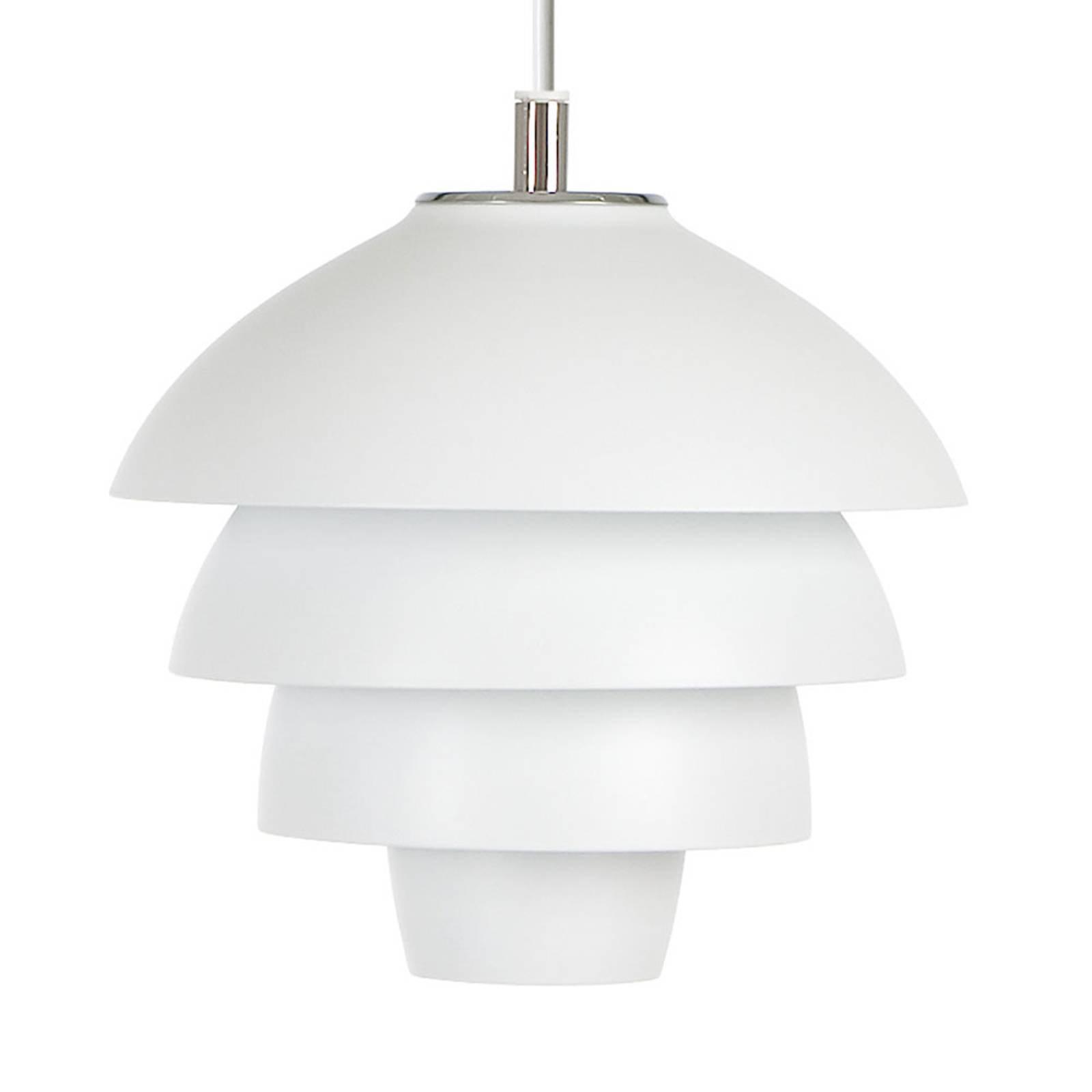 Hengelampe Valencia, Ø 18 cm, hvit, med plugg