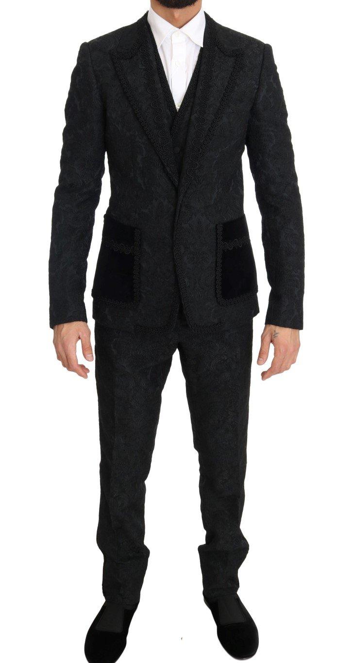 Dolce & Gabbana Men's Torrero Slim 3 Piece Suit Black KOS1154 - IT44   XS