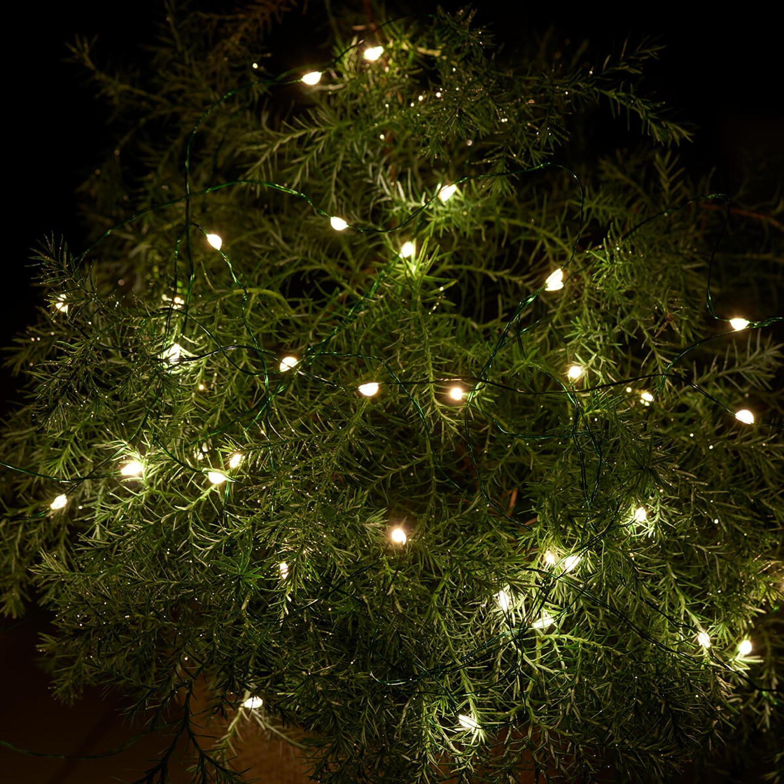 LED-valoketju Knirke ulkokäyttöön, 40-lamppuinen