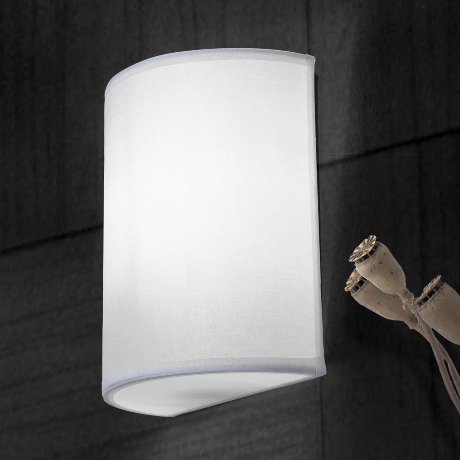 Vegglampe Ufo med linskjerm i hvit