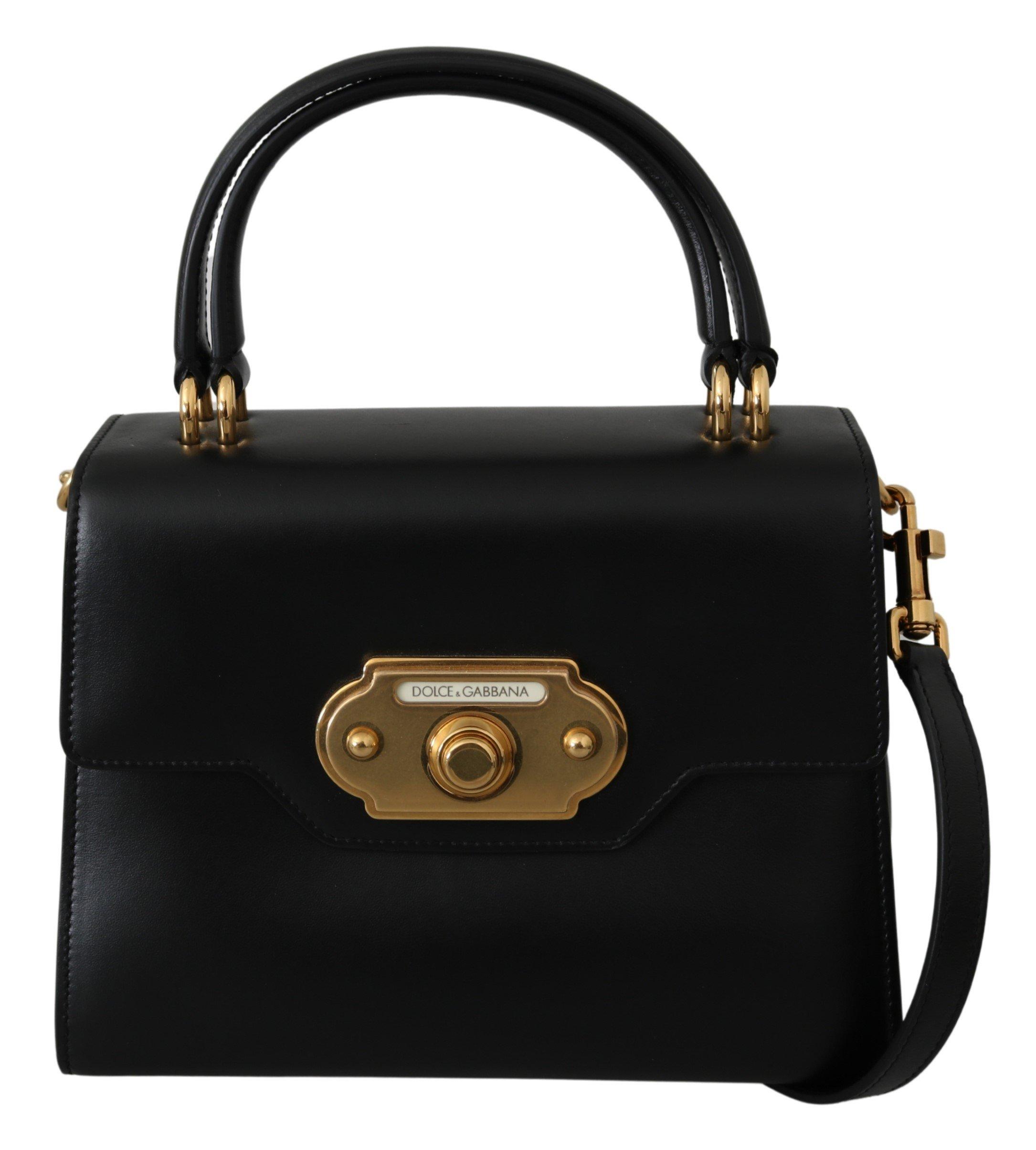 Dolce & Gabbana Women's Leather Shoulder Bag Black VAS9810