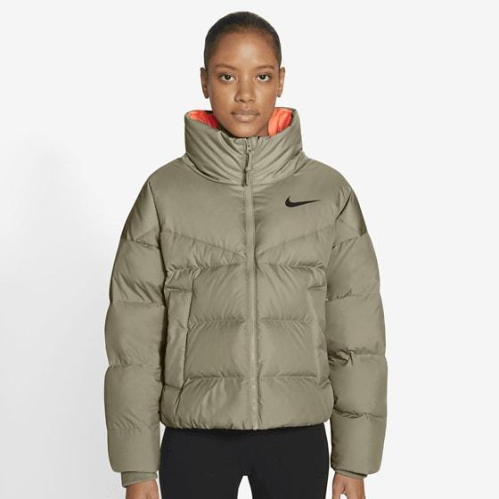 Nike W Stmt Dwn Jkt Jackor MYSTIC STONE/BRIGH