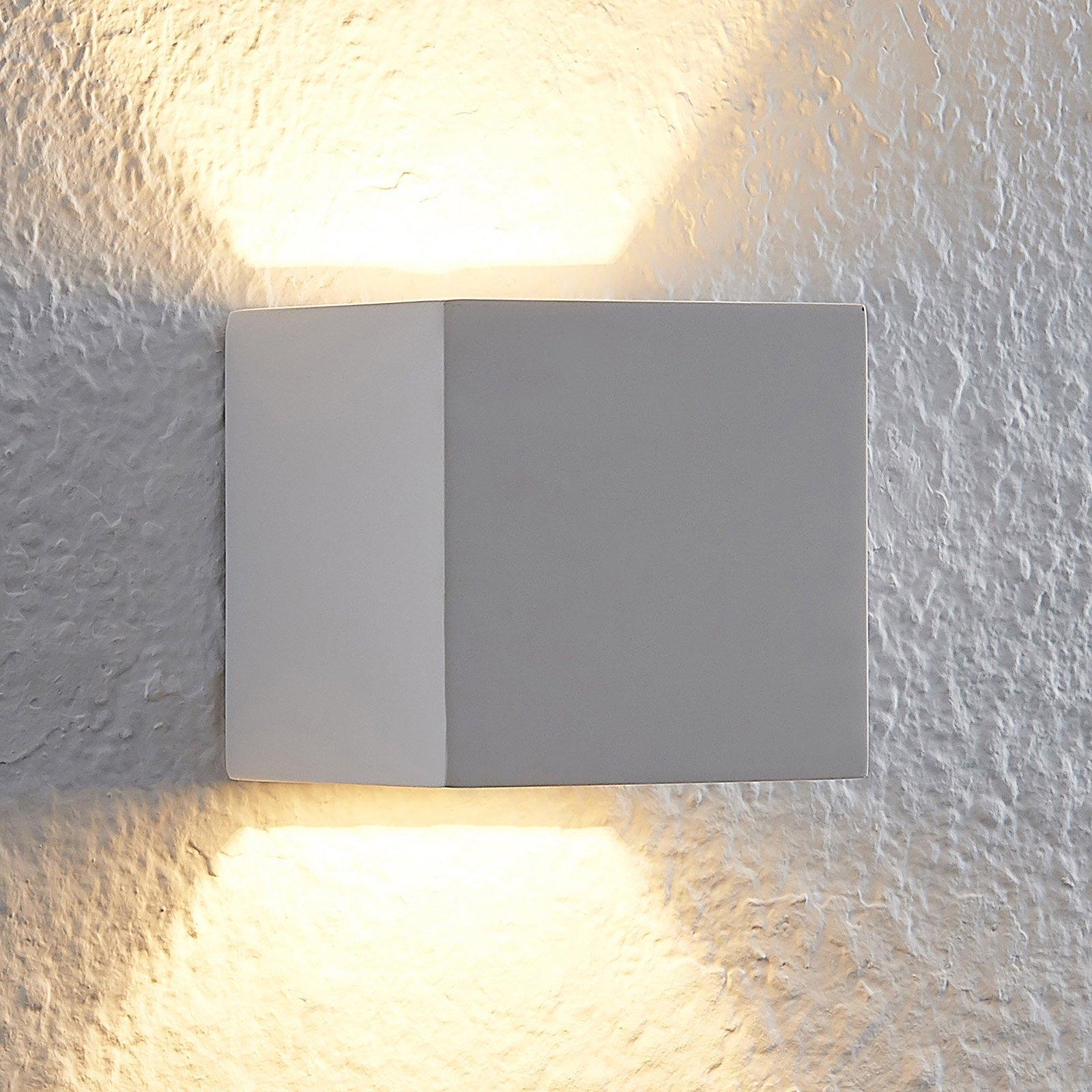 Lindby Quaso LED-vegglampe av hvit gips