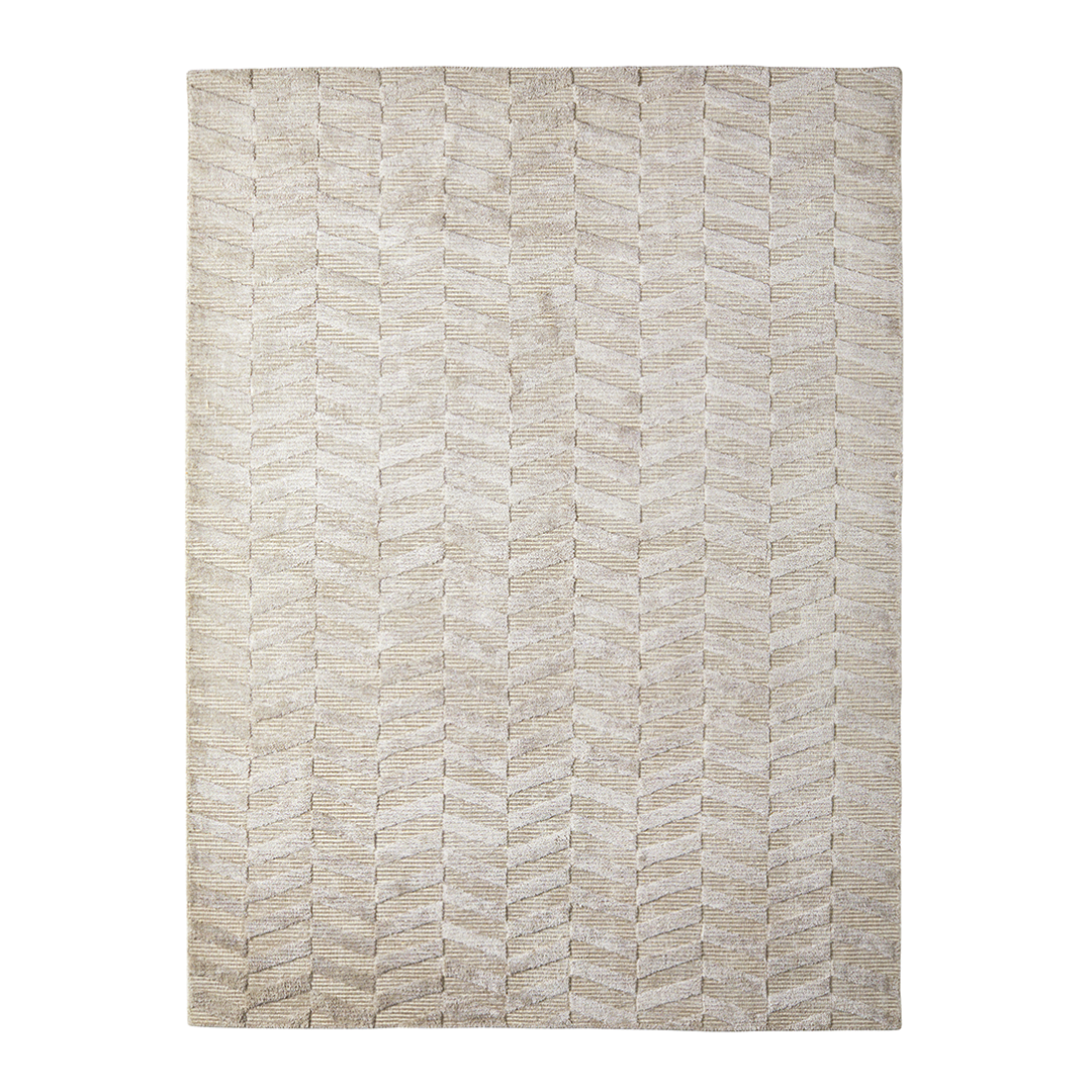 Viskosmatta CHEVRON Sand 200x300 cm, Classic Collection