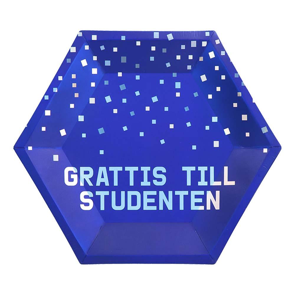 Papperstallrikar Grattis Till Studenten - 8-pack