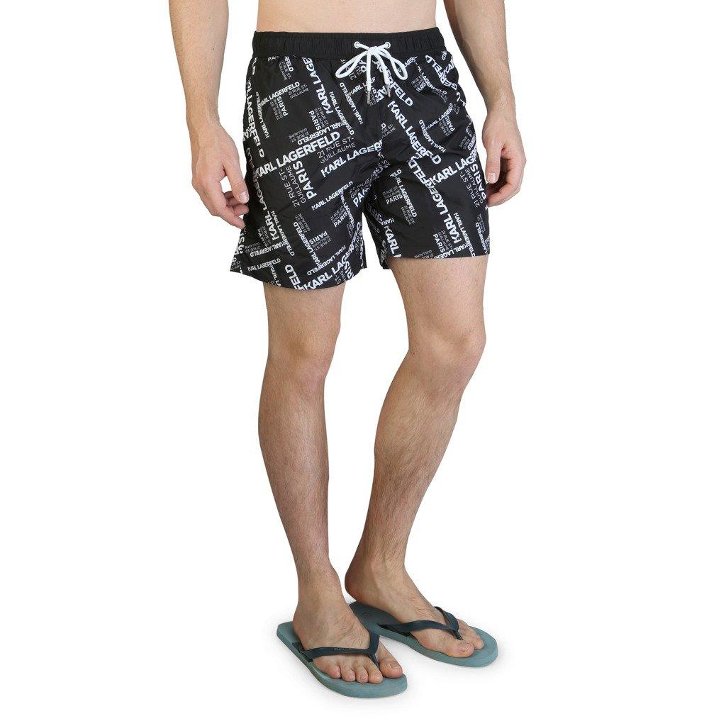 Karl Lagerfeld Men's Swimwear KL21MBM14 - black S