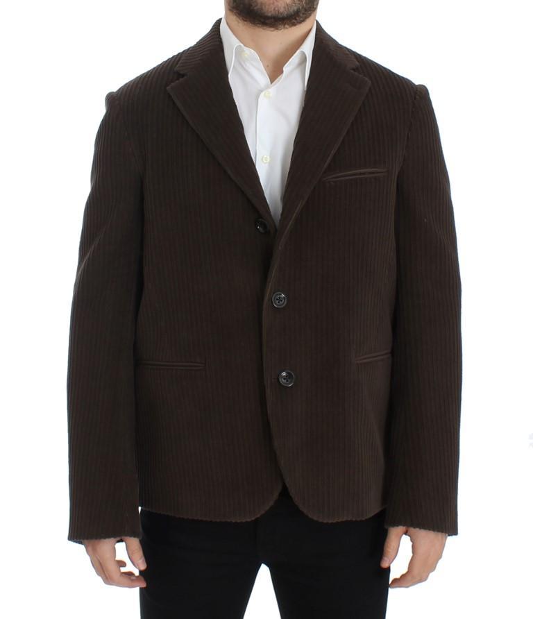 Dolce & Gabbana Men's manchester stretch Blazer Brown SIG12228 - IT48   M