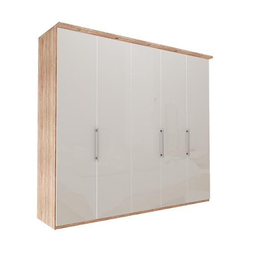 Garderobe Atlanta - Lys rustikk eik 250 cm, 236 cm, Med gesims