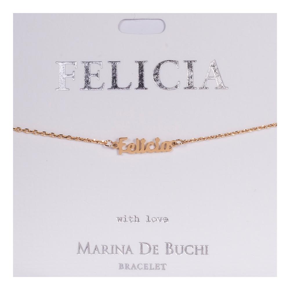 Namnarmband Guld - Felicia