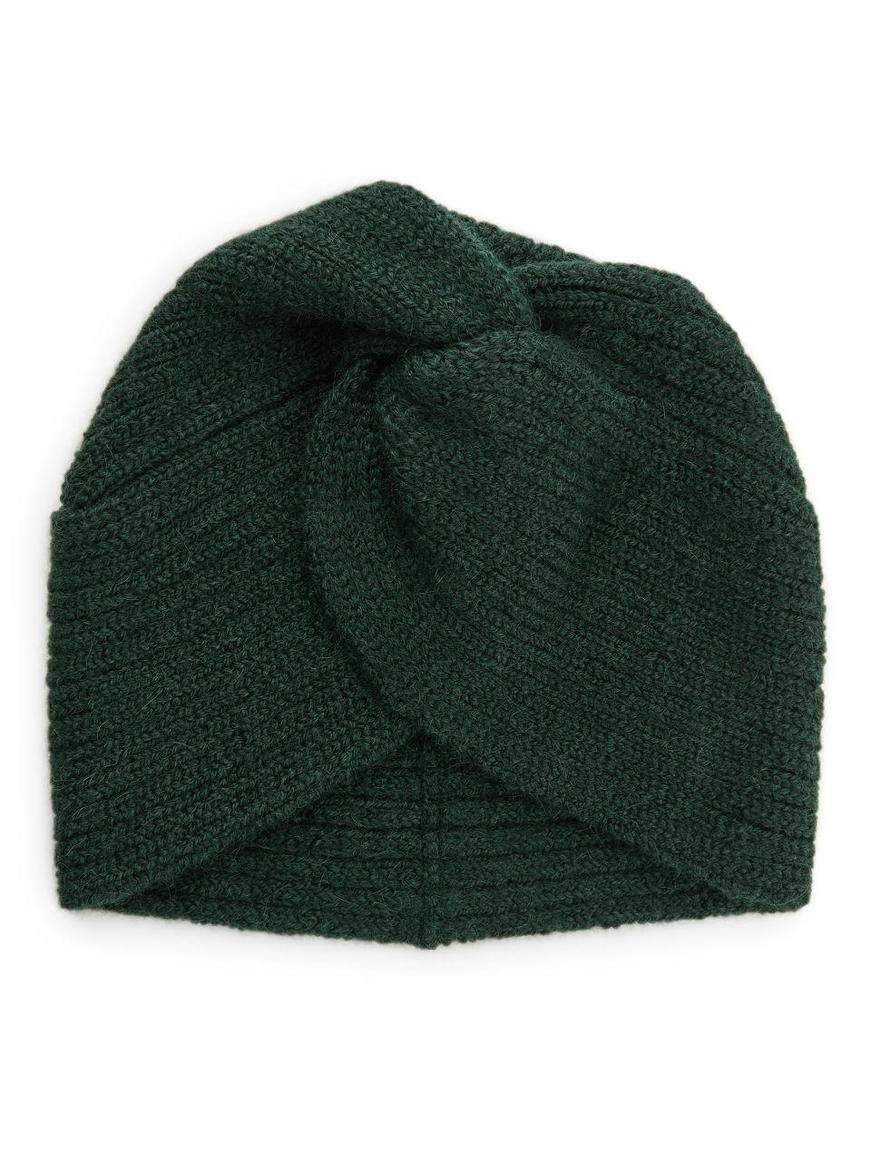 Alpaca Twisted Beanie - Green