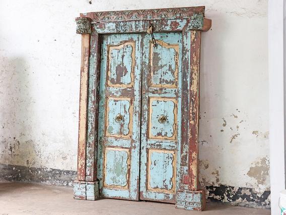 Grand Antique Rajasthani Door Blue