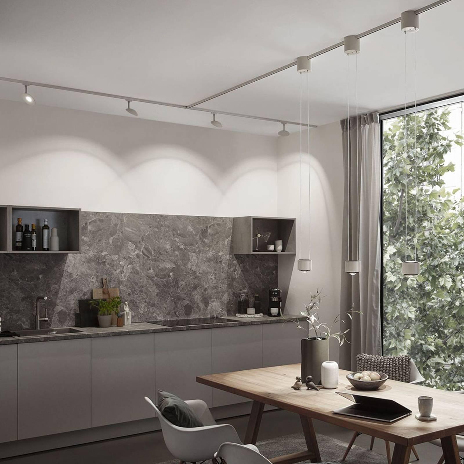 Paulmann URail -LED-spotti Sphere valkoinen/kromi