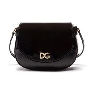 Dolce & Gabbana Logo Patent Väska Svart One Size