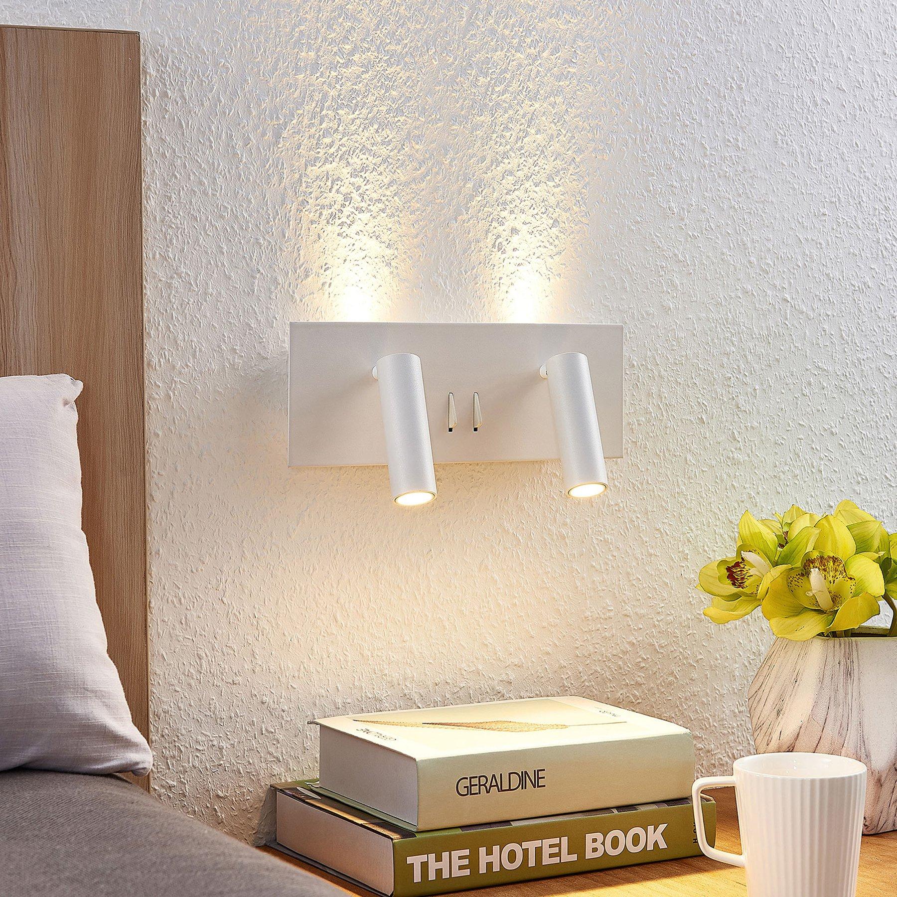 Lucande Magya LED-vegglampe hvit 4 lyskilder