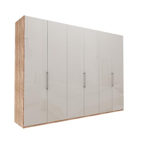 Garderobe Atlanta - Lys rustikk eik 300 cm, 236 cm, Uten gesims / ramme