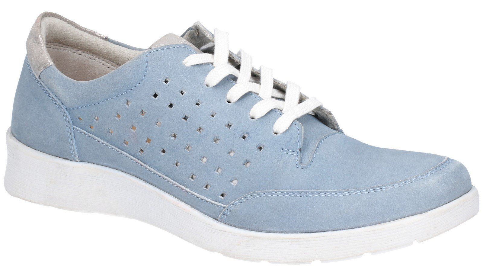 Hush Puppies Women's Molly Lace Up Shoe Various Colours 28408 - Blue 3