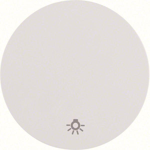 """Hager 16202079 Vipu malleihin R.1 ja R.3, valkoinen Yksiosainen vipu, symboli """"valo"""""""