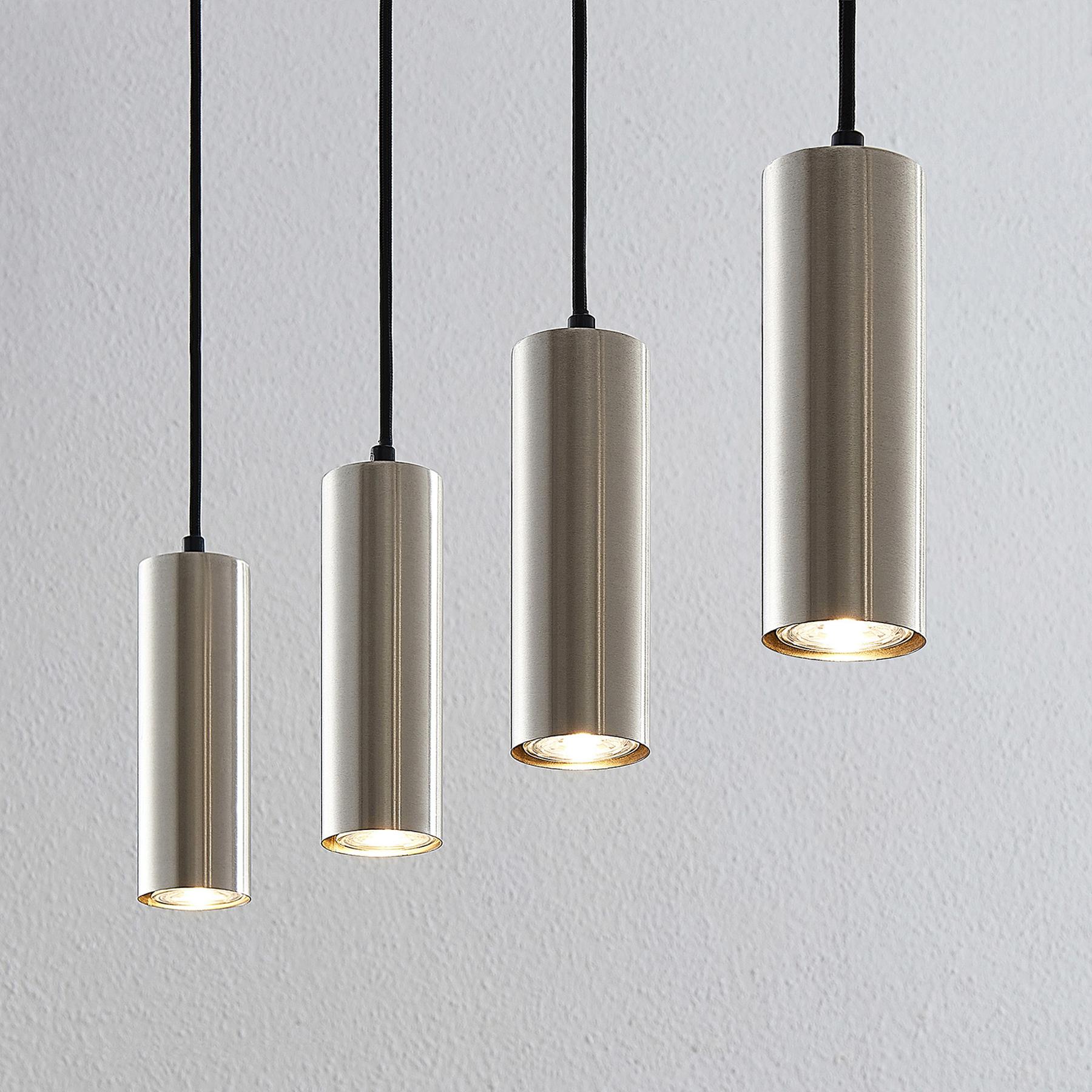 Lindby Joffrey -riippuvalo, 4-lamppuinen, nikkeliä