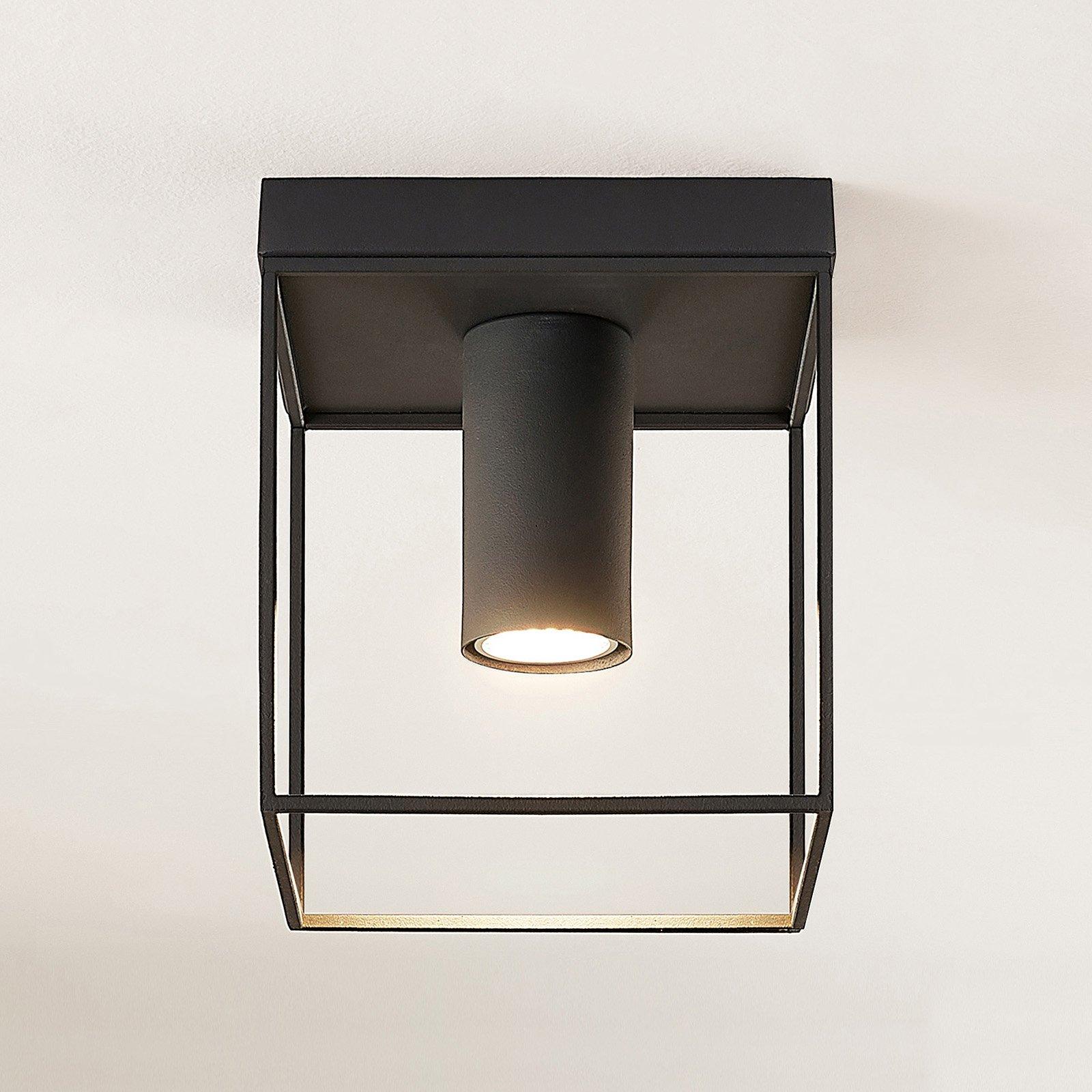 Lindby Disabio taklampe av metall, mørkegrå