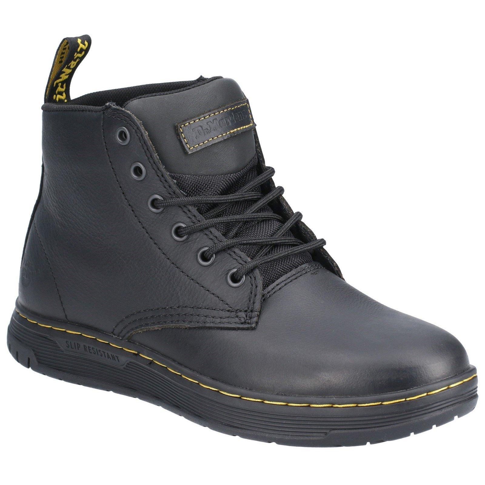 Dr Martens Men's Amwell Slip Resistant Leather Boot Black 29508 - Black 10