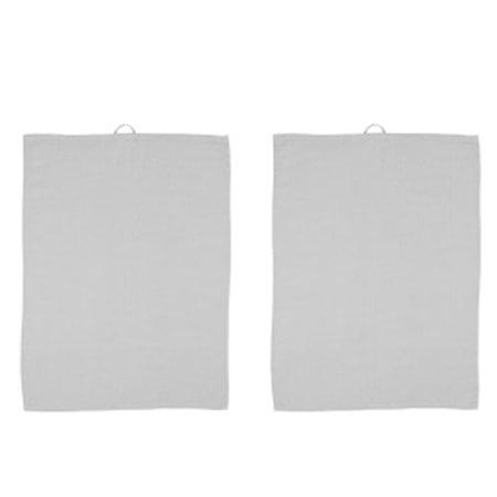 Kjøkkenhåndklær Grå/Grå 2 pakning 70 x 50 cm