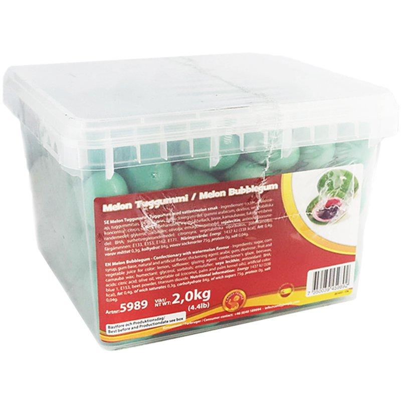 Kokonainen laatikko: Purukumi Meloni 2kg - 50% alennus