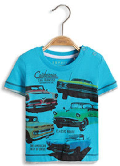 ESPRIT Cars T-skjorte, Light Turquoise 62