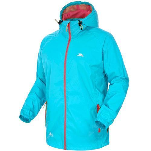 Trespass Unisex Waterproof Packaway Jacket Various Colours Qikpac Jkt - Sky Blue XS