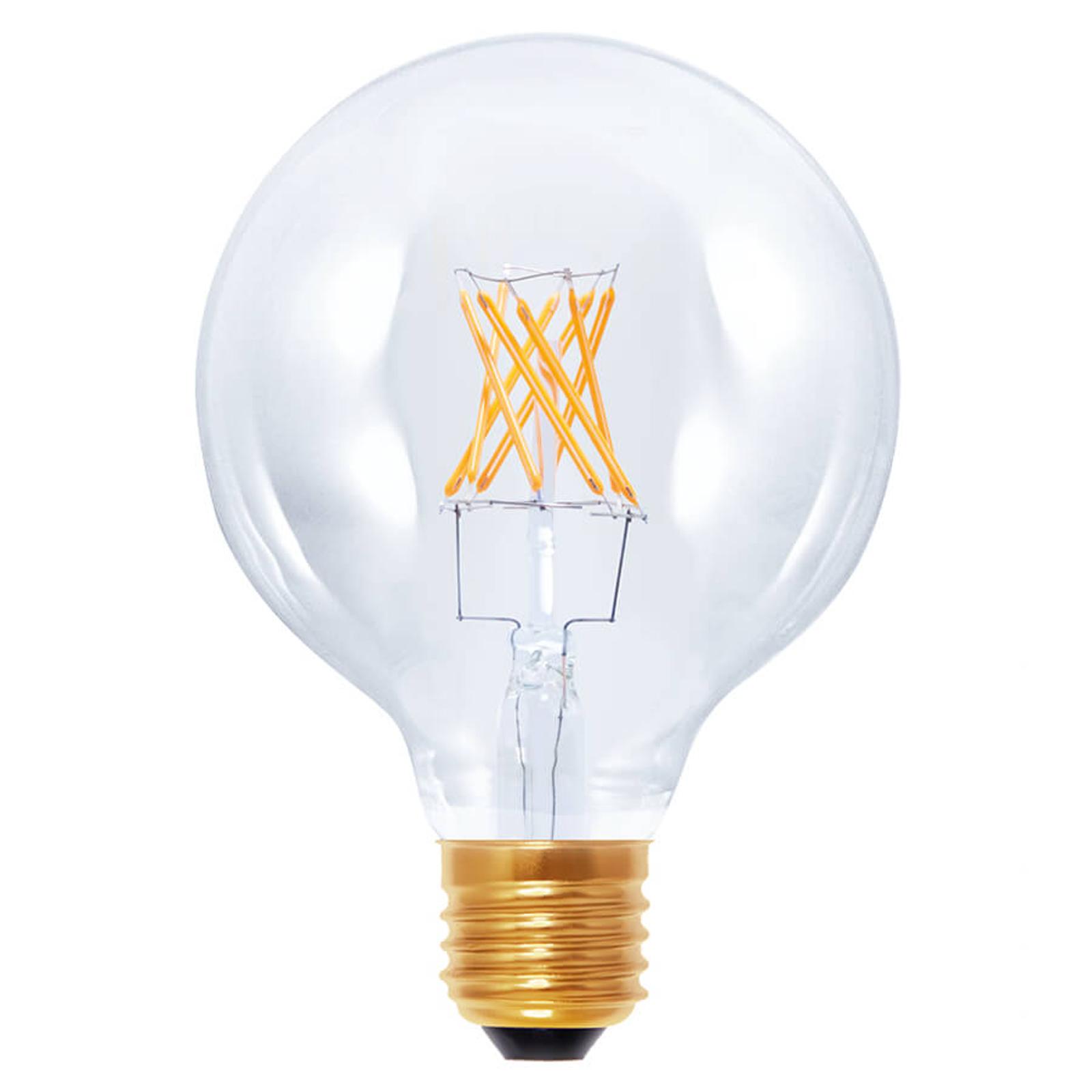 LED-pallolamppu G95 E27 6 W 922 hiililangalla