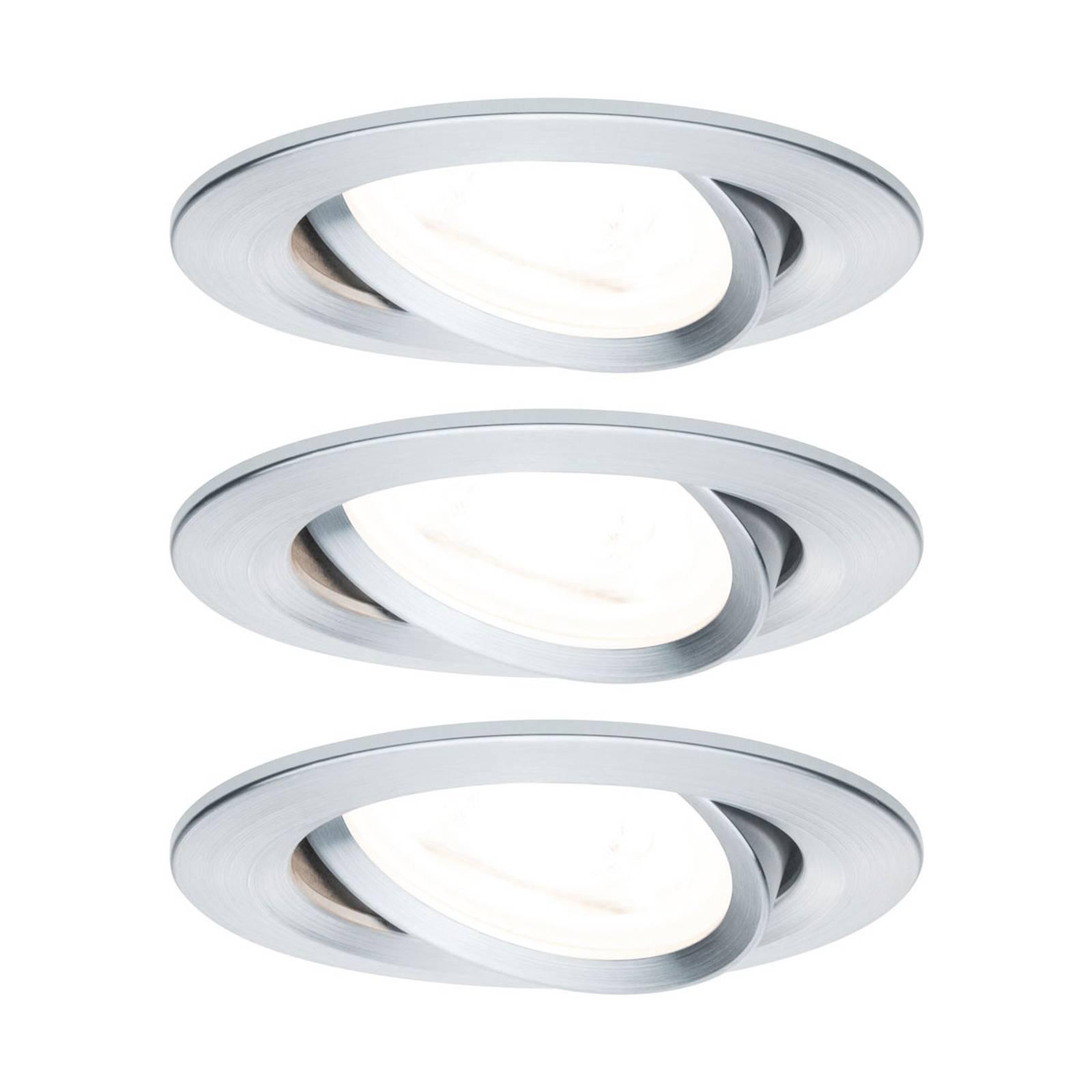 Paulmann 3 spottia Nova pyöreä alumiini