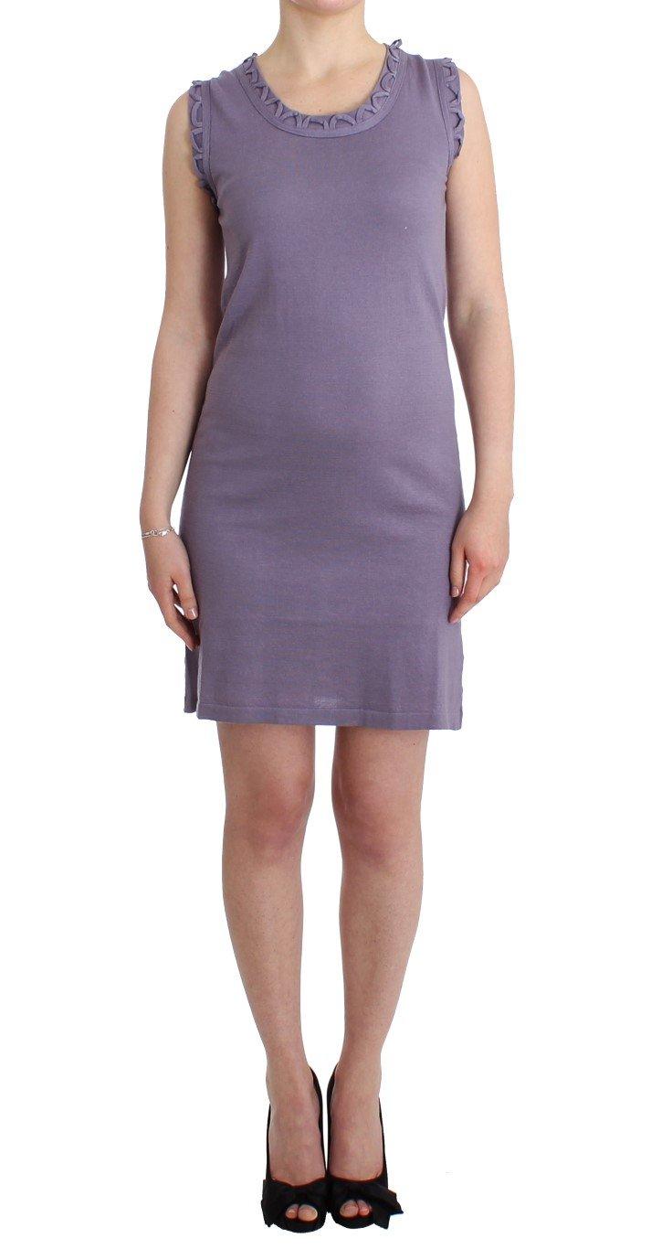 John Galliano Women's Cotton Jersey Dress Purple SIG11571 - XS