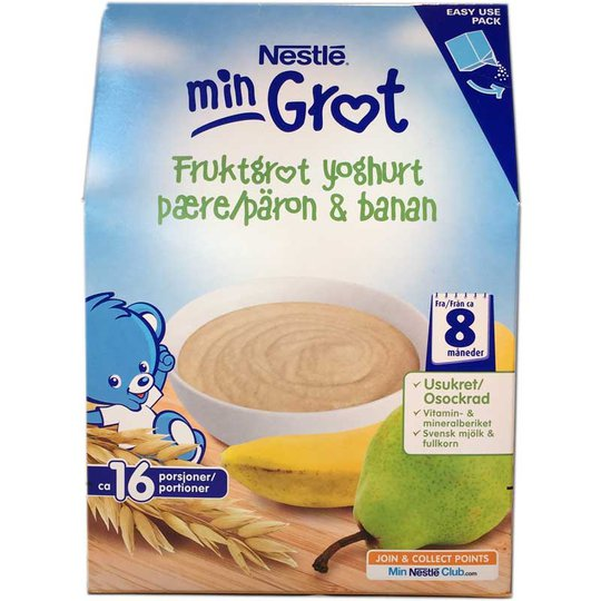 Fruktgröt yoghurt päron & banan - 32% rabatt