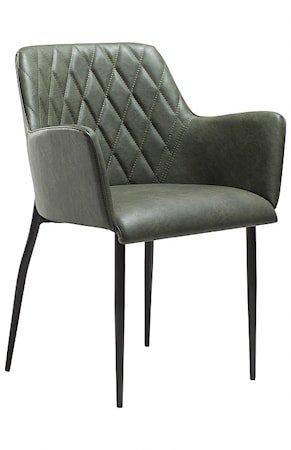 Rombo stol med armlene – Vintage grønn