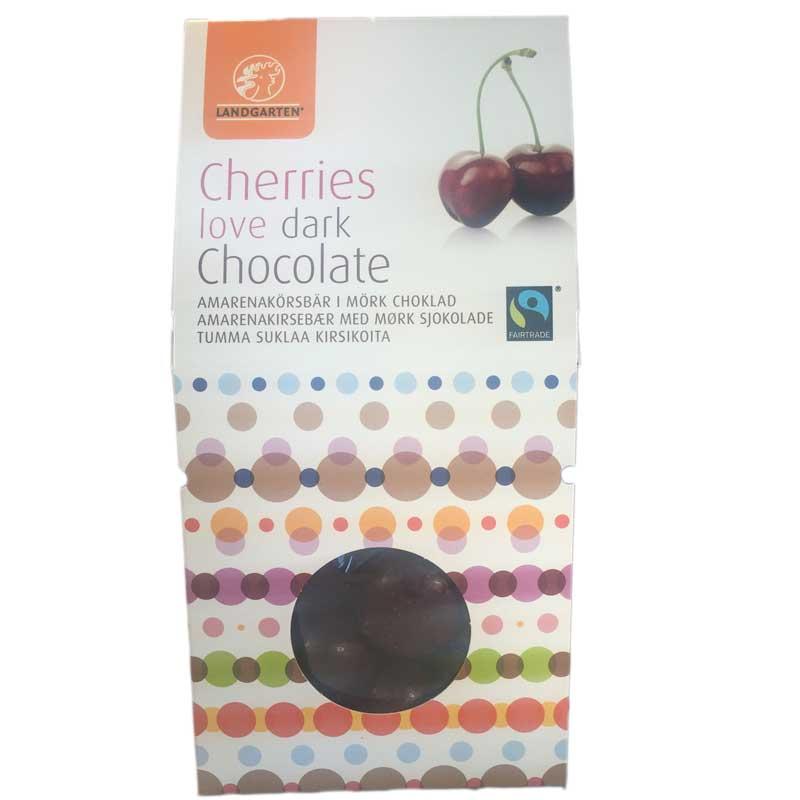 Körsbär i mörkchoklad - 50% rabatt