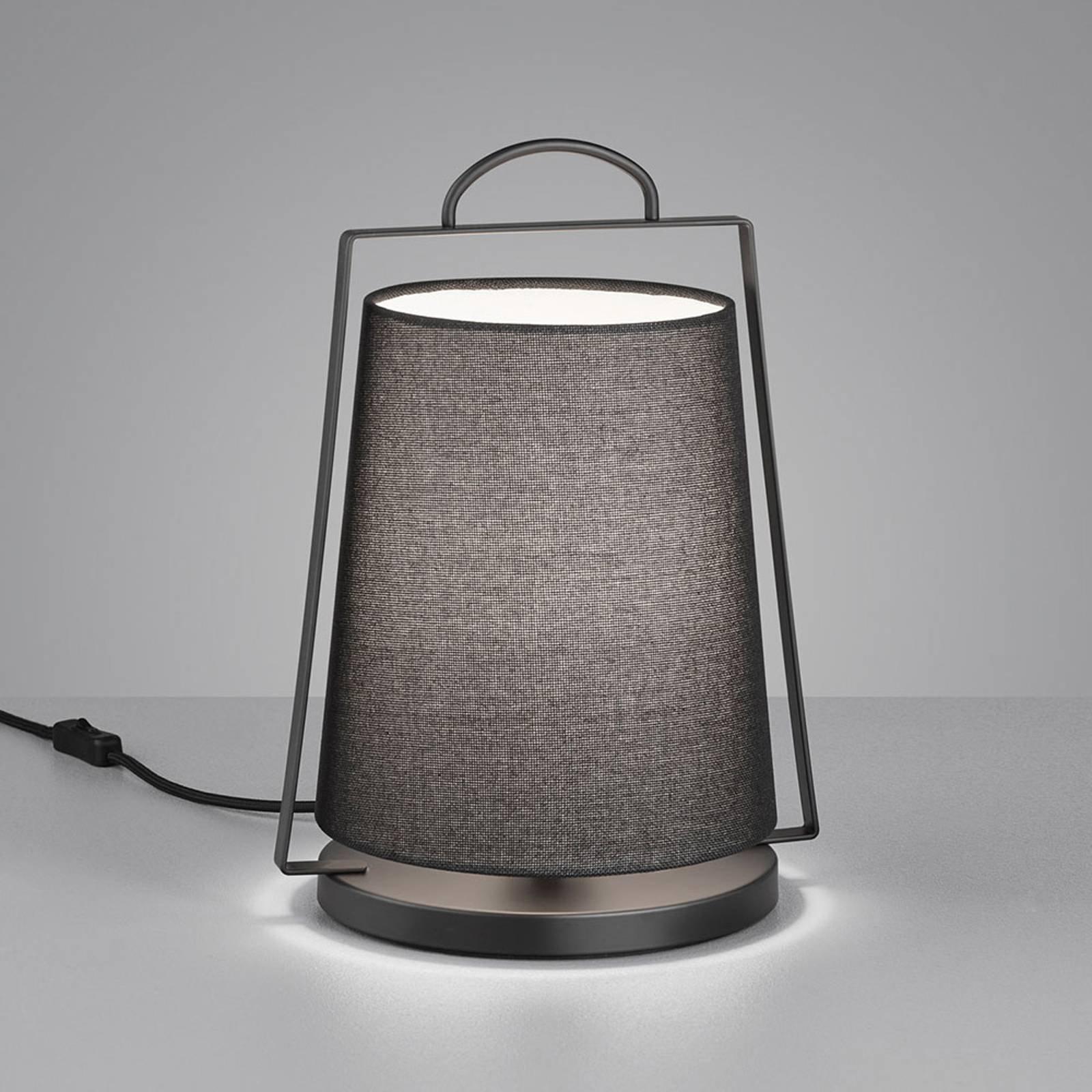 Helestra Uka bordlampe med tekstilskjerm, svart