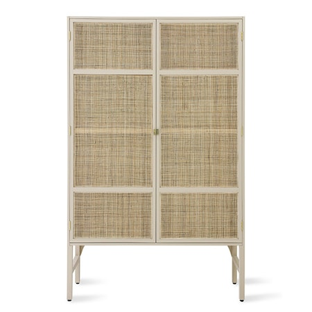 Retro Webbing Cabinet Sand m shelves