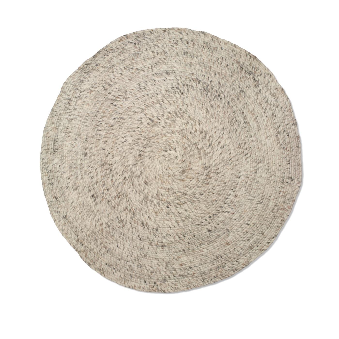 Rund ullmatta Merino beige 160 cm, Classic Collection