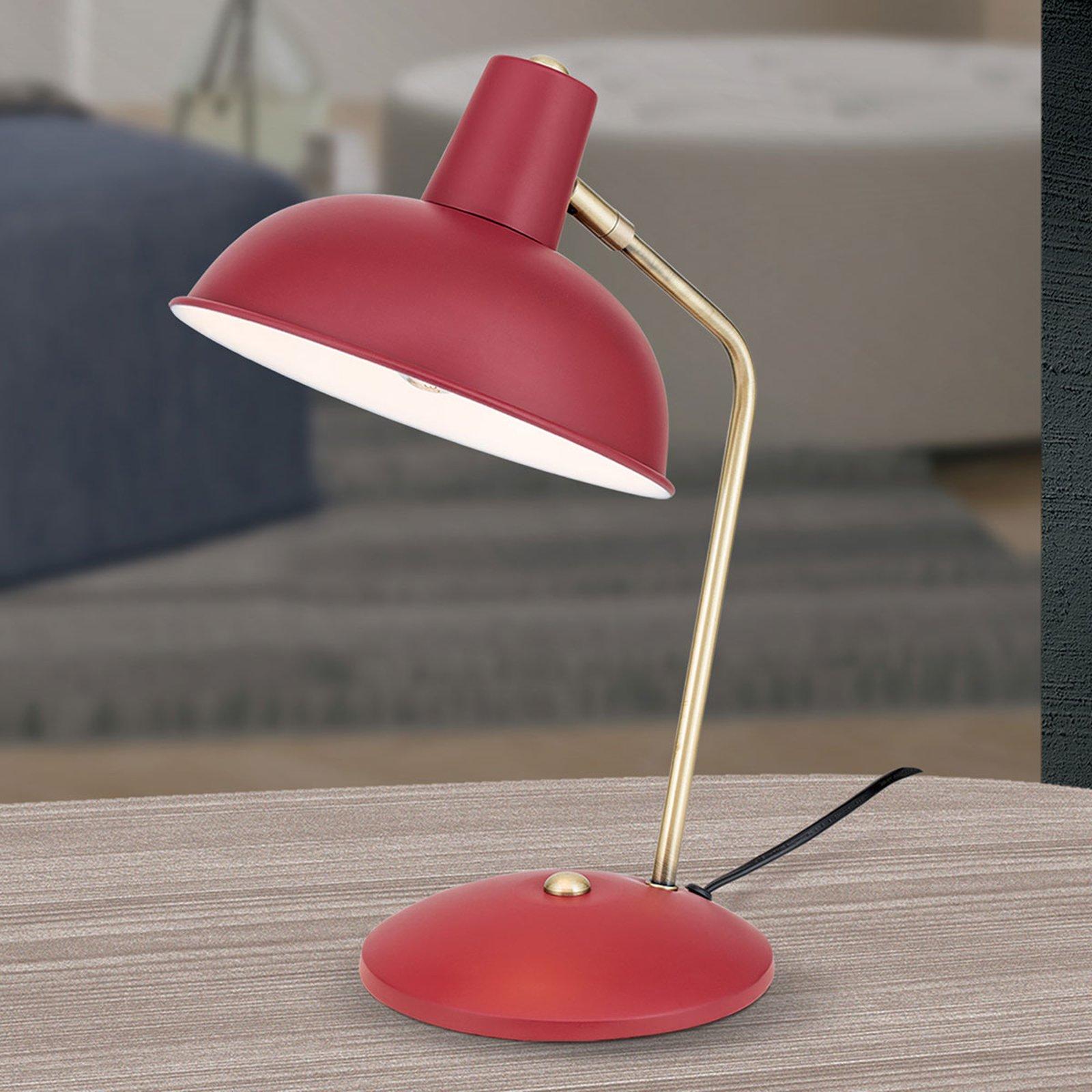 I vintagestil - bordlampe Fedra rød