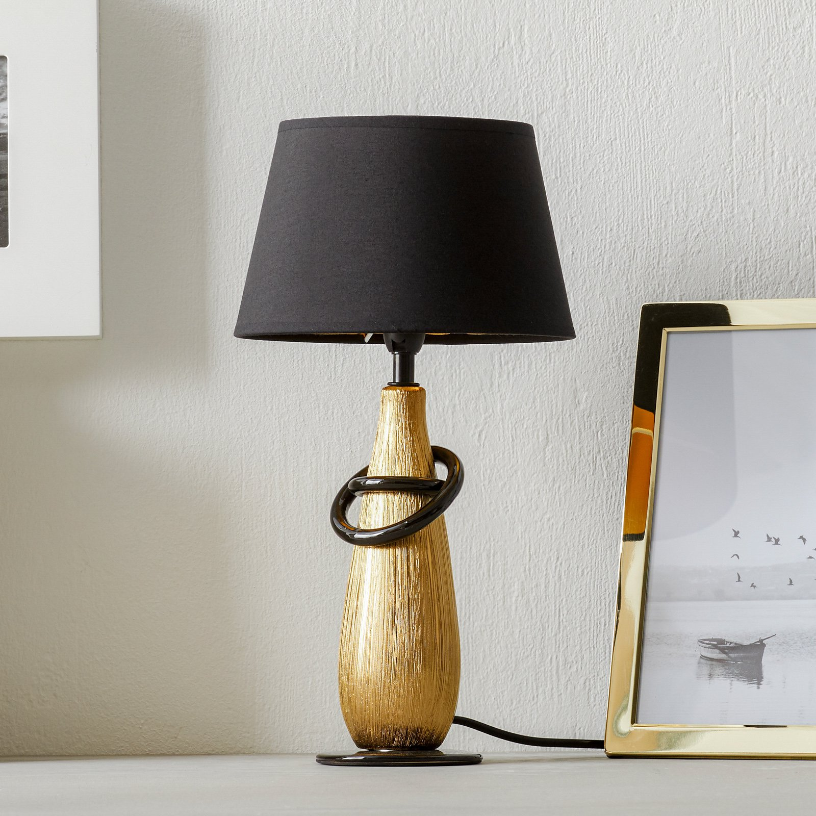 Moderne bordlampe Thebes i keramikk