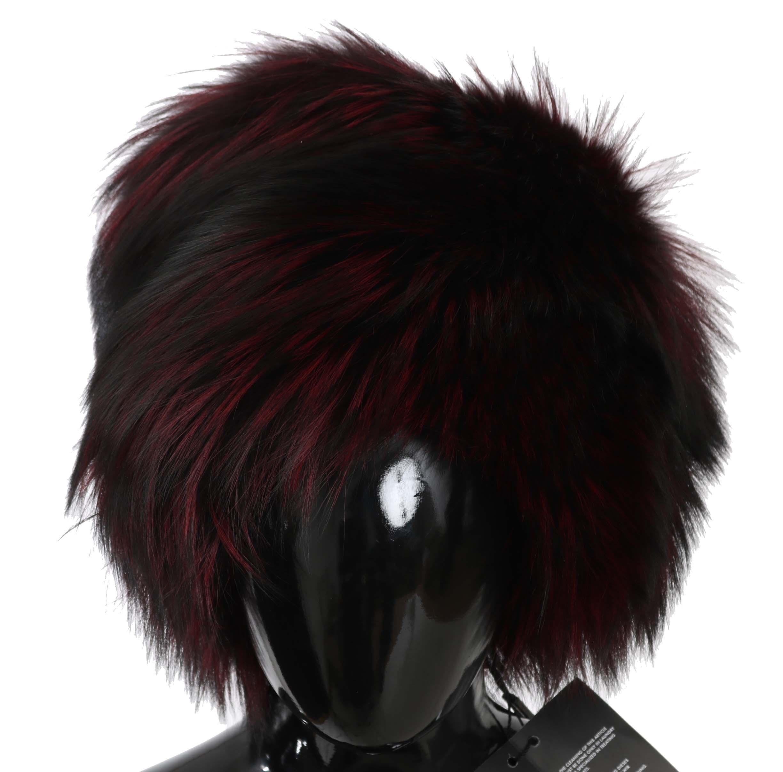 Dolce & Gabbana Women's Fox Fur Winter Hat Black HAT70204 - 58 cm M