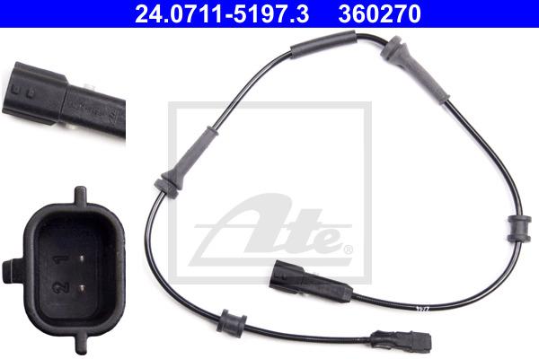 ABS-anturi ATE 24.0711-5197.3