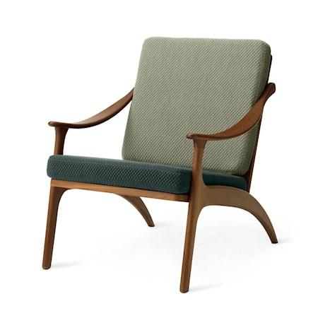 Lean Back Lounge Chair Petrol shade/Light sage Teak